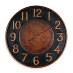Uttermost Matera 36-Inch Metal Wall Clock in Golden Bronze