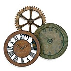 Uttermost Rusty Gears Wall Clocks