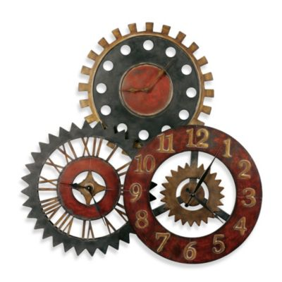 Uttermost Rusty Movements Metal 35-Inch Wall Clock