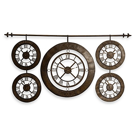 Buy digital clocks time date from bed bath beyond for Dual time wall clock