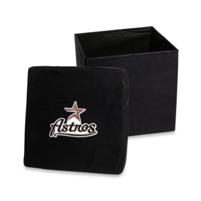 Houston Astros Collapsible Storage Ottoman