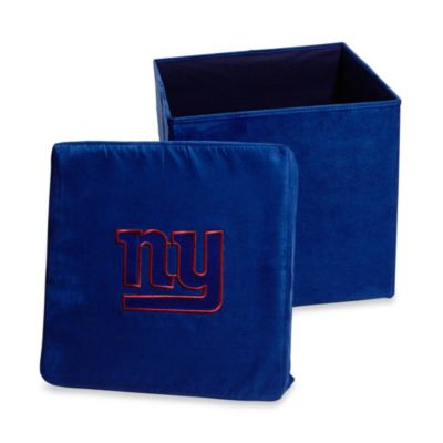 New York Giants Collapsible Storage Ottoman