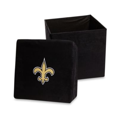 New Orleans Saints Collapsible Storage Ottoman