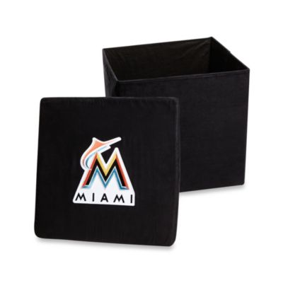 Miami Marlins Collapsible Storage Ottoman