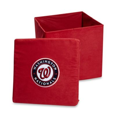 Washington Nationals Collapsible Storage Ottoman