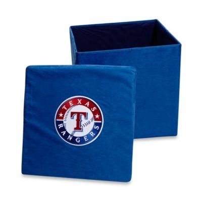 Texas Rangers Collapsible Storage Ottoman