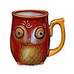 Gibson Home Nature's Owl 12-Ounce Mug in Red