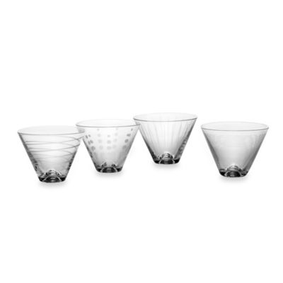 Mikasa® Cheers Stemless Martini Glasses (Set of 4)