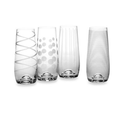 Mikasa® Cheers Stemless Flute Glasses (Set of 4)