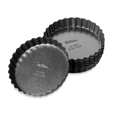 Advance® 6-Piece 4-Inch Tart & Quiche Pans (Set of 6)