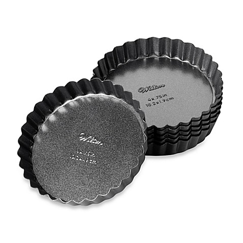 Wilton advance 4 inch tart and quiche pans set of 6 for Quiche not setting