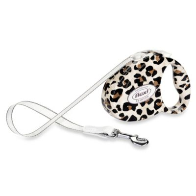 Flexi Fashion Retractable Belt Leash in Leopard
