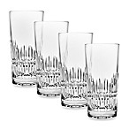 Top Shelf Hand Cut Crystal Facet Highball (Set of 4)