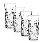 Godinger Dublin Top Shelf Hand Cut Crystal Bevel Highball (Set of 4)
