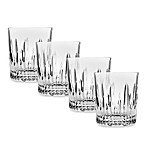 Godinger Top Shelf Barware Sculpt Double-Old Fashioned (Set of 4)