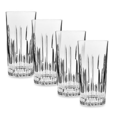 Godinger Dublin Crystal Top Shelf Barware Sculpt Highball (Set of 4)