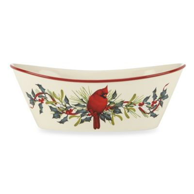 Lenox® Winter Greetings® 9.5-Inch Oval Bowl