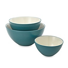 Noritake® Colorwave 3-Piece Mixing Bowl Set in Turquoise