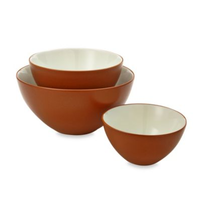 Noritake(R) Colorwave Terracotta 3-Piece Bowl Set