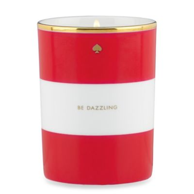 "Kate Spade New York ""Be Dazzling"" Amber Candle in Red"
