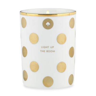 "Kate Spade New York ""Light Up The Room"" Fig Candle in Gold Dot"