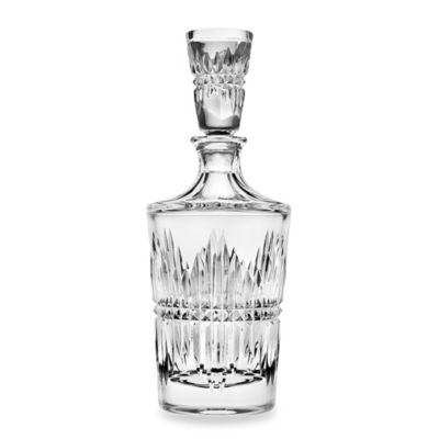 Top Shelf Hand Cut Crystal Facet Decanter
