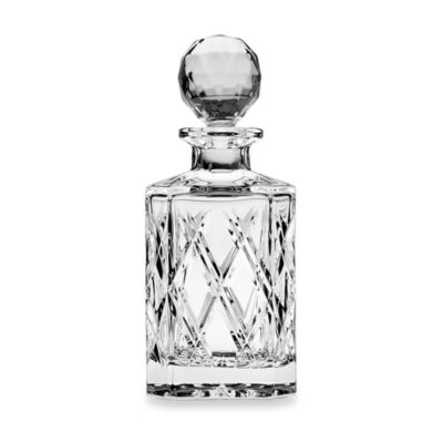 Top Shelf Hand Cut Crystal Bevel Decanter