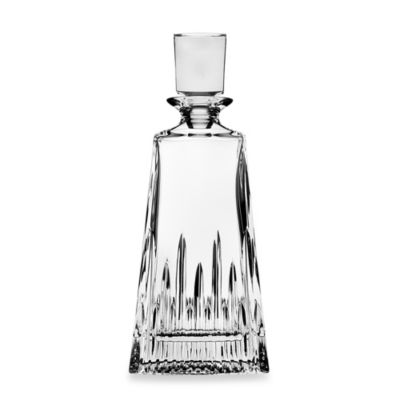 Top Shelf Hand Cut Crystal Sculpt Decanter