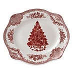 Johnson Brothers Old Britian Castles Christmas Tree 12-Inch Platter in Pink