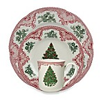 Johnson Brothers Old Britian Castles Christmas Tree 12-Piece Set in Pink and Green