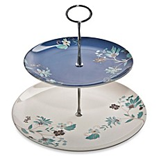 Denby Monsoon Veronica Two-Tiered Cake Stand