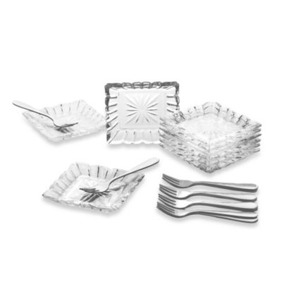 Crystal Clear Alexandria 25-Piece Taste Plate Set