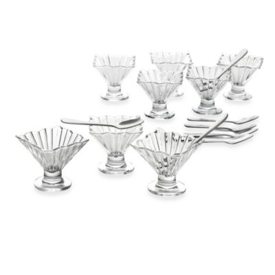 Crystal Clear Alexandria 17-Piece Taster Tinis Set