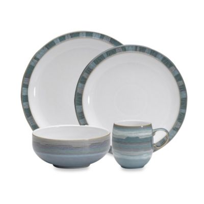 Denby Azure Coast 4 Piece Dinnerware Set