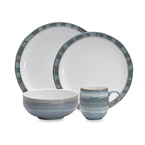 buy denby azure coast 4 piece dinnerware set from bed bath. Black Bedroom Furniture Sets. Home Design Ideas