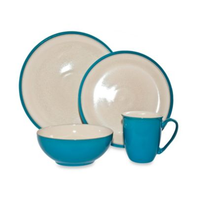 Denby Dine 4-Piece Dinnerware Set in Turquoise