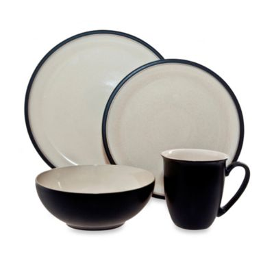 Denby Dine 4-Piece Dinnerware Set in Black