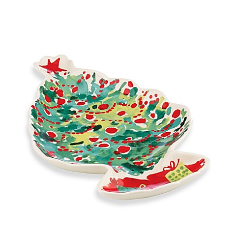 Buy lenox holiday 10 5 inch tree canape plate from bed for Christmas canape plates