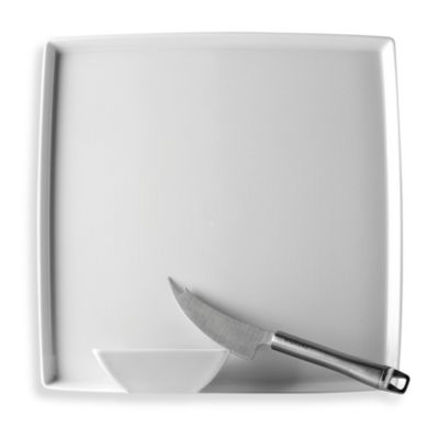 Rosenthal Thomas Loft 3-Piece Cheese Serving Set in White