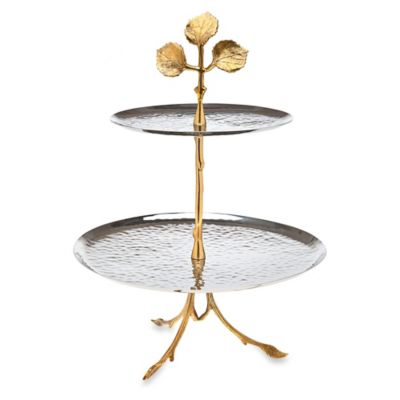 Godinger Leaf 2-Tier Serving Plate
