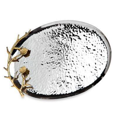 Godinger Leaf Hammered Oval Tray