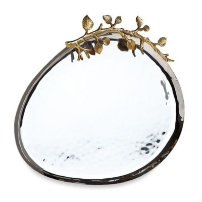 Godinger Leaf Design Hammered Tray