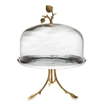 Godinger Leaf Footed Plate with Glass Dome