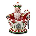 Spode® Christmas Tree Peppermint Figural Nutcraker Dip Set with Spreader