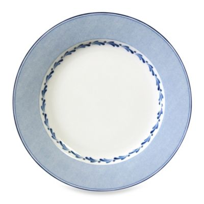 Nikko Blue Brushstroke 12-Inch Round Platter