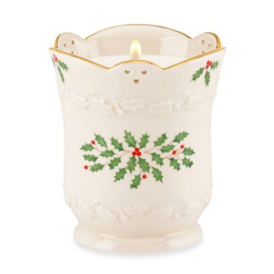 Lenox® Holiday™ 7-Ounce Curved Ceramic Candle