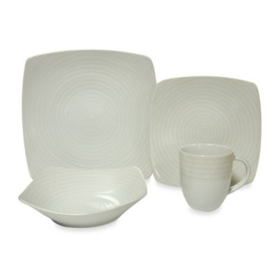Red Vanilla White Rice 20-Piece Dinner Set