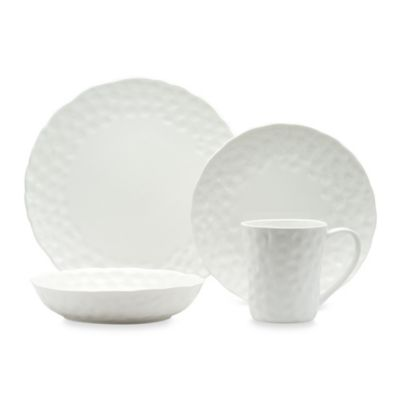 Red Vanilla Marble Round 16-Piece Dinner Set