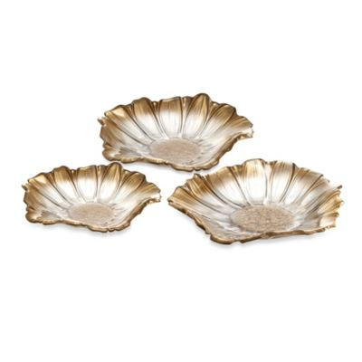 Fifth Avenue Crystal Venezia 12-Inch Flower Bowl in Gold