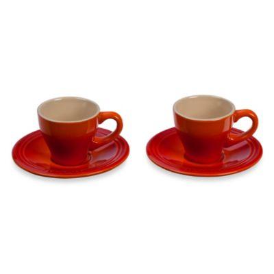 Le Creuset® Espresso Cups Saucers Dining